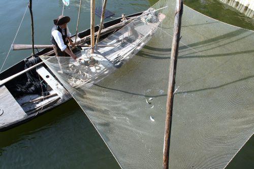 Pêche au carlet sur la réplique d'un bachot de basse Loire de 1912 / Prix FNE 2009