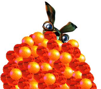 Montage spécial Pâques : Mon Piki enfouis parmis des oeufs