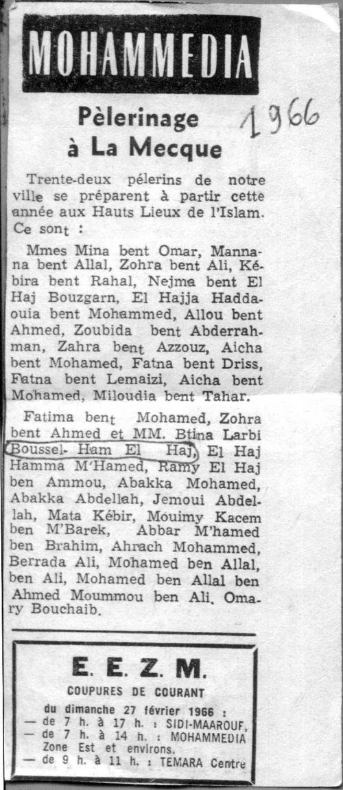 pèlerinage à la Mecque de 1966