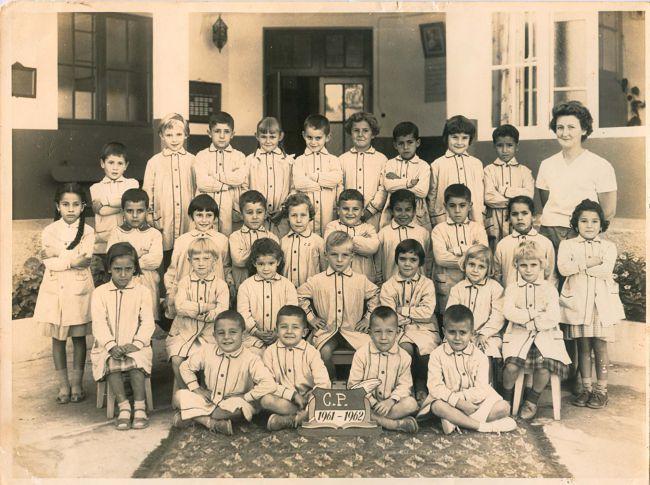 classe C.P année scolaire 1961/62 école Jacques hersent