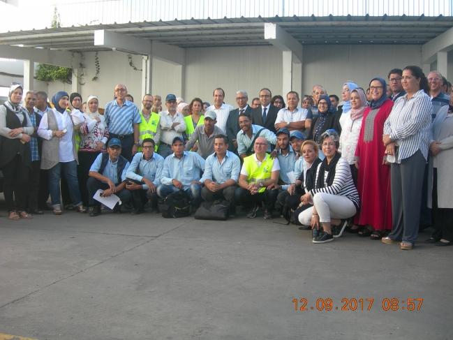 personnel de la lydec & des membres d associations