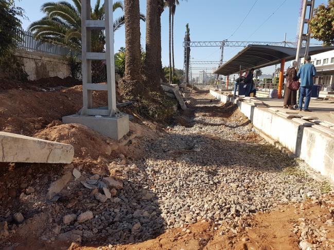 travaux d aménagement de la gare pour la