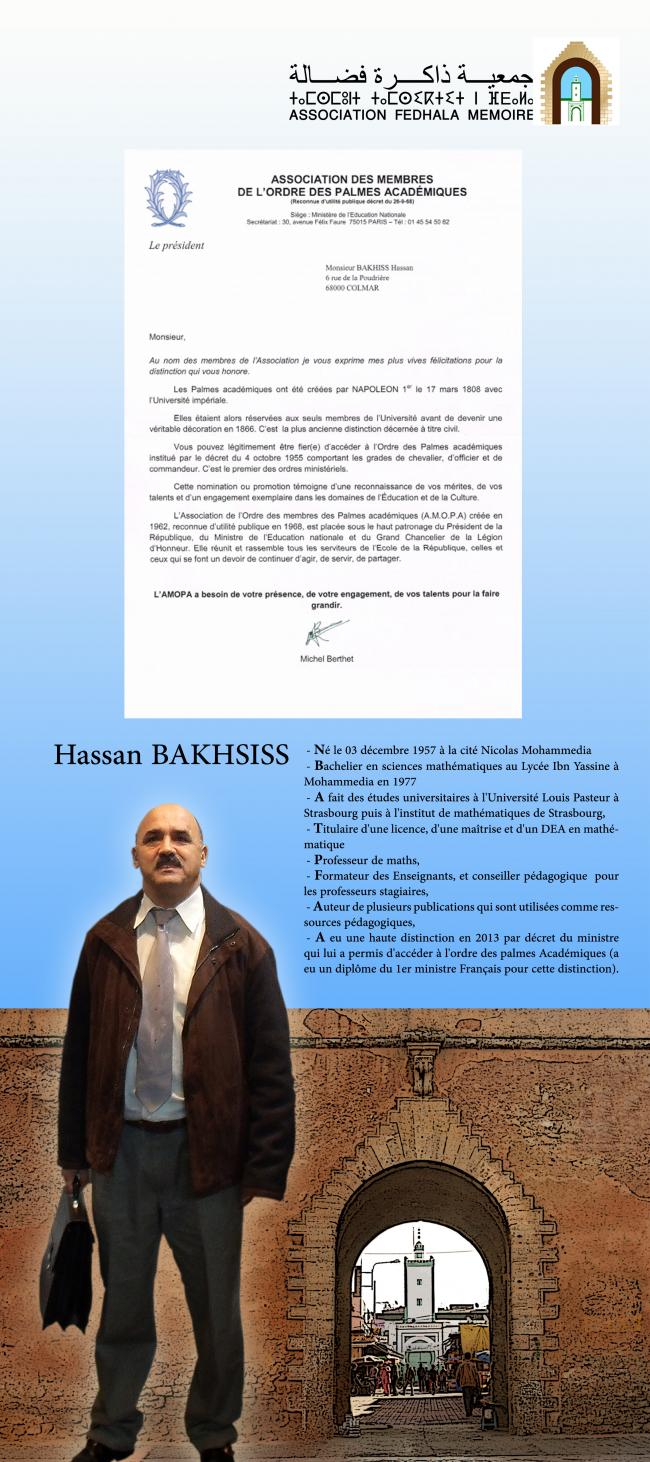 association Fedhala mémoire : réception de Mr Hassan