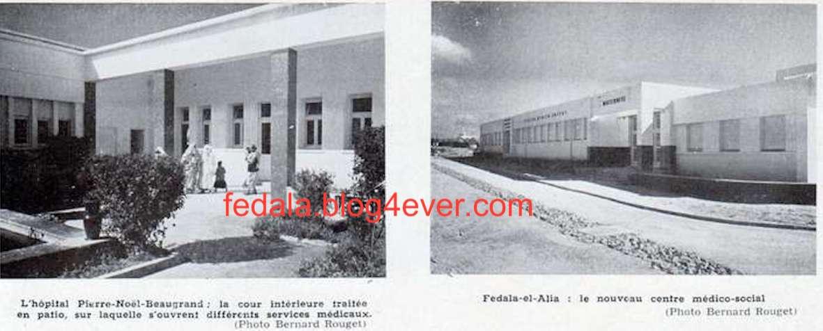 la santé à Fédala en 1954