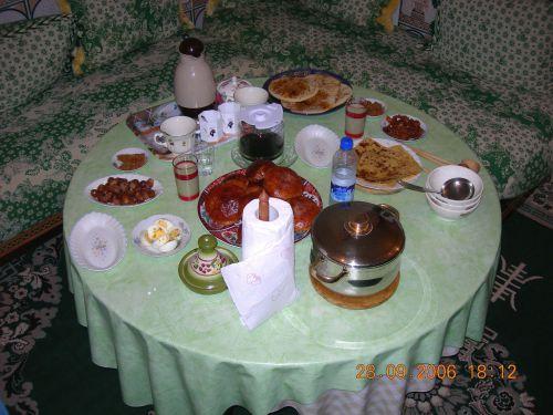table du ftour