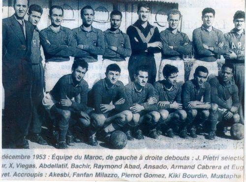 équipe du maroc décembre 1953