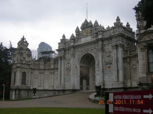 la porte principale du palais dolmabahché