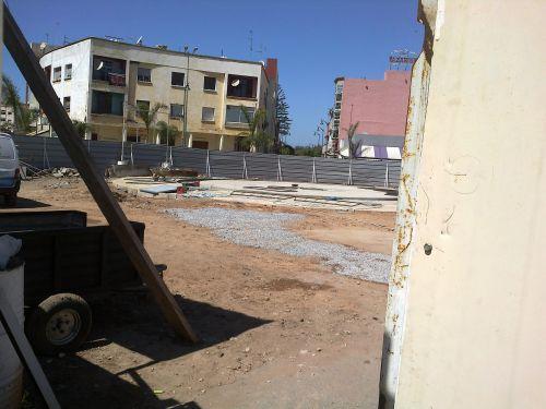 construction d une fontaine ( place de la marche verte)