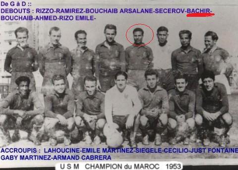 U.S.M CASA champion de Maroc 1953