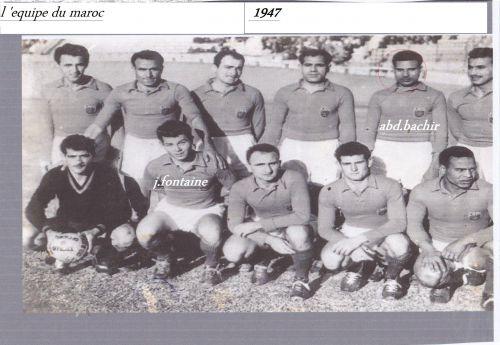 équipe du Maroc année 1947