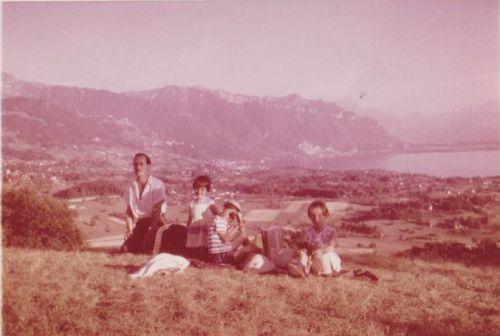 Pique-nique au dessus de la maison 1962
