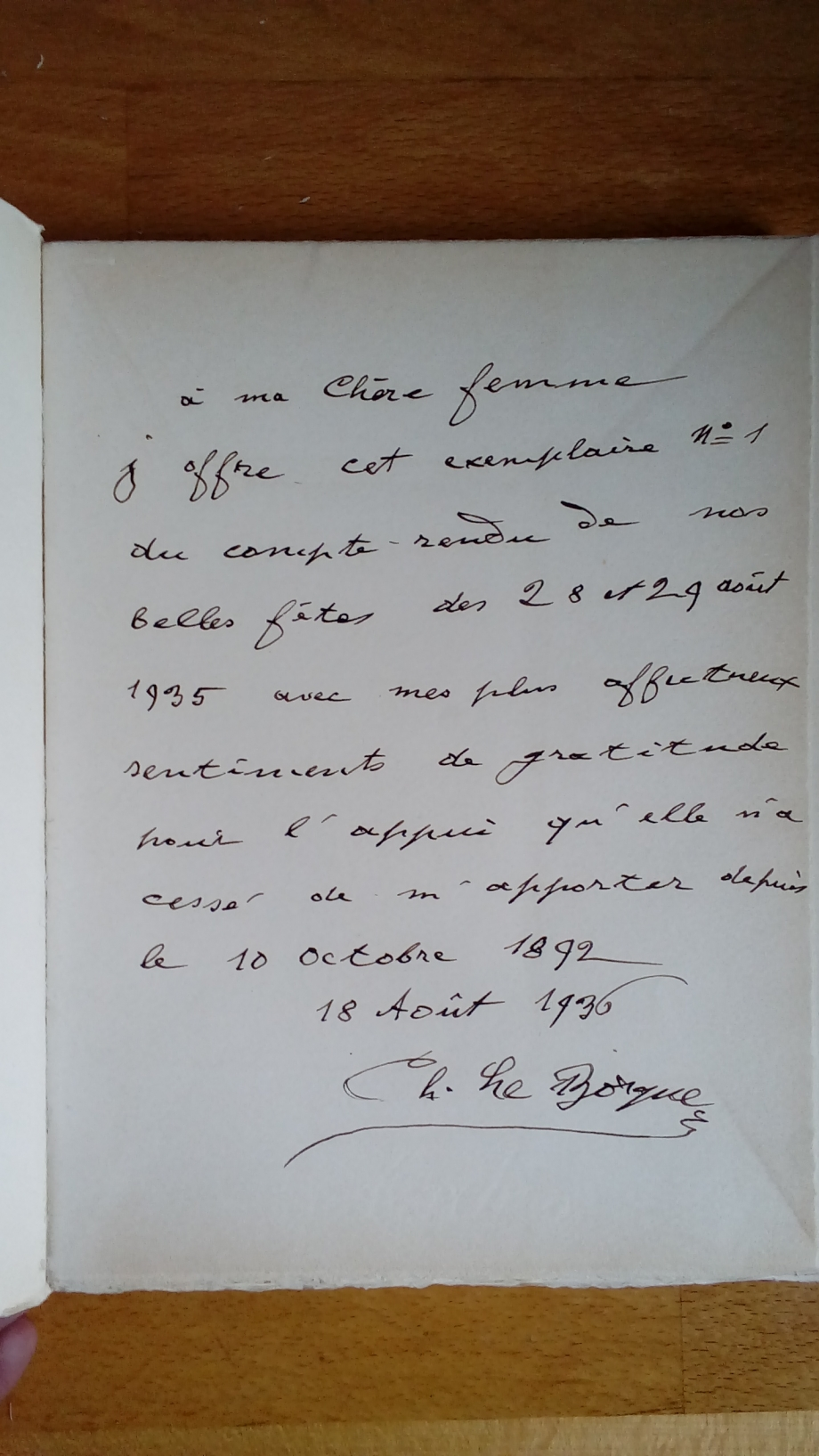 Dédicace livret 200ème anniversaire CLB par M. Charles.jpg