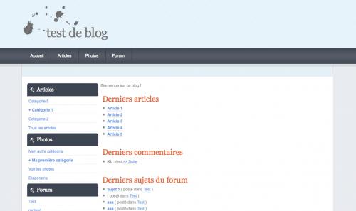 Blog4ever modèles graphiques