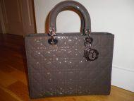 Lady Dior cuir vernis Brume