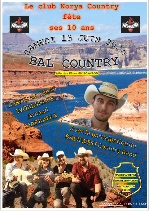 Voilà l'affiche pour le BAL DE NC86 DU 13 JUIN 2020 ,  faîte par ma Belle Fille . Merci KATY