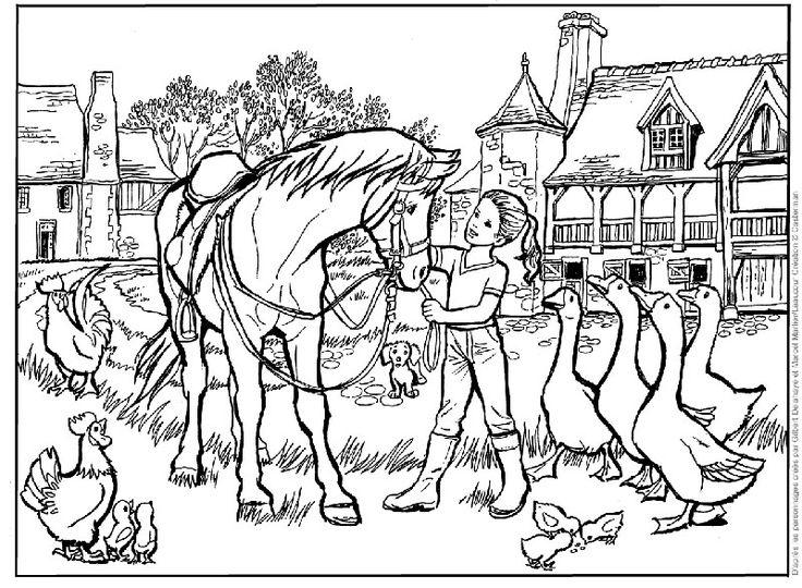 Coloriages martine et le cheval marlier le blog des fans de poneys et de chevaux - Martine dessin ...