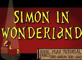 Jeu chevaux - cheval Gratuit Simon in wonderland free horse game