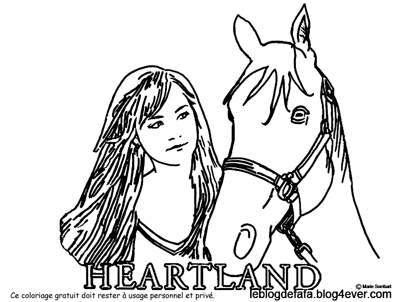 Coloriage heartland gratuit s rie amy spartan lou tim fleming 3 free coloring to print le - Lou coloriage ...