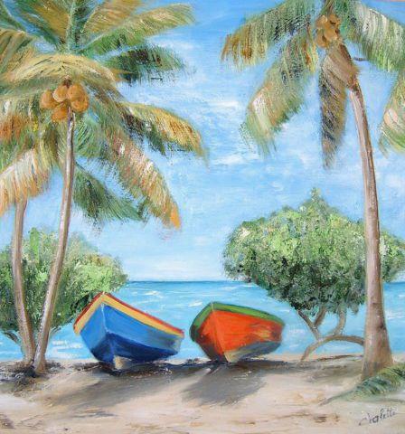Duo sous les cocotiers