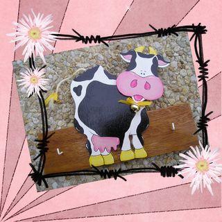 Accroche clés vache