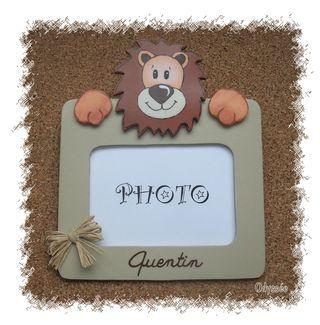 Cadre photo lion