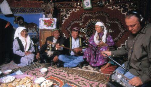 séance enregistrement musique kazakh.2003.