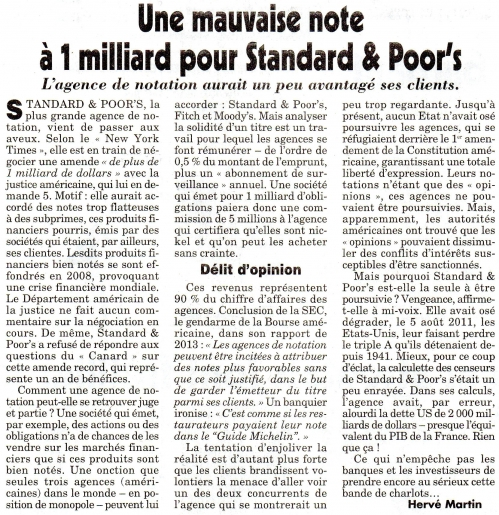 Une mauvaise note à 1 milliard pour Standard and poor's.jpg