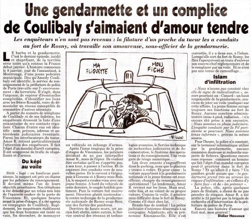 Une gendarmette et un complice de Coulibaly s'aimaient d'amour tendre.jpg