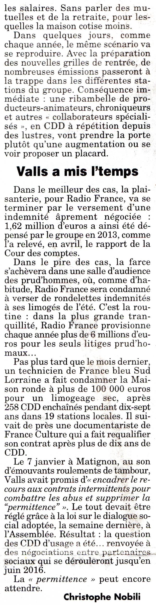 Record battu près de seize mille CDD à Radio France en 2014 2.jpg