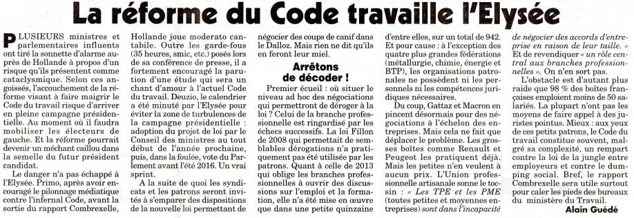 La réforme du code travaille l'Elysée.jpg