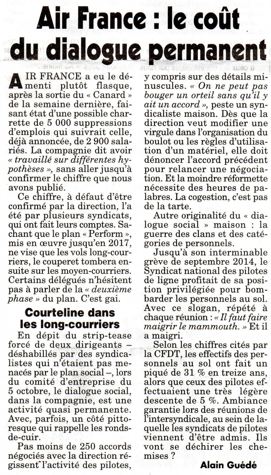 Air France le coût du dialogue permanent.jpg