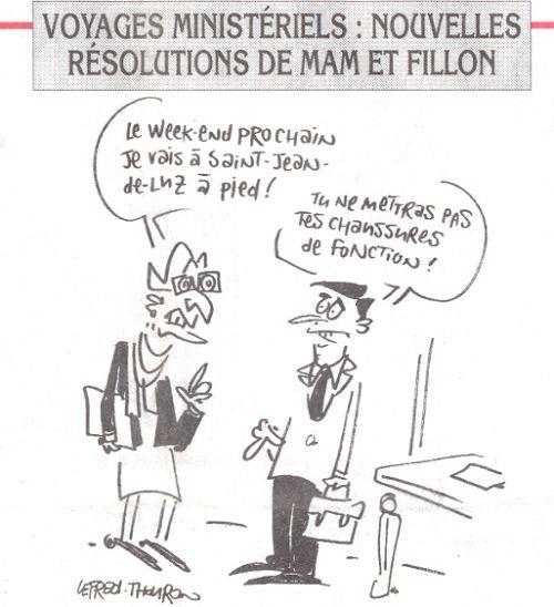 Voyages ministériels nouvelles résolutions de Mam et Fillon