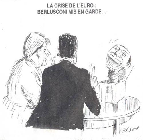 La crise de l'euro Berlusconi mis en garde