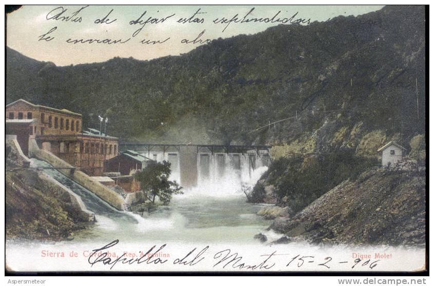 DIQUE MOLET  SIERRAS DE CORDOBA CPA  1906.jpg
