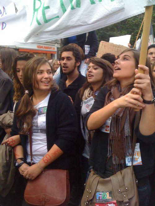 Manifestation à Paris des élèves (16/10/10) (2)