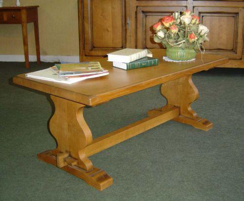 Table basse campagnard en chêne