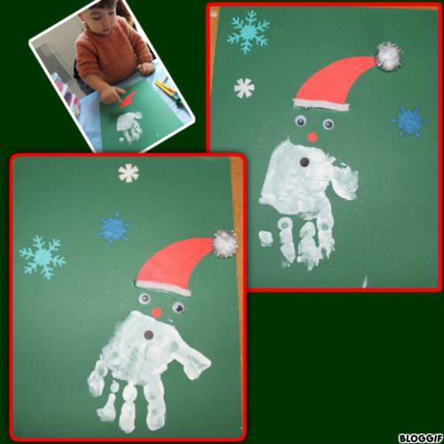 un Père Noel Main