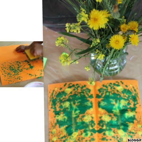 peinture pour représenter notre bouquet de fleurs sauvages