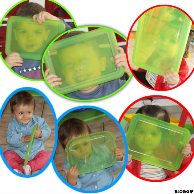 jouer avec les couvercles de couleurs transparents ! ! !