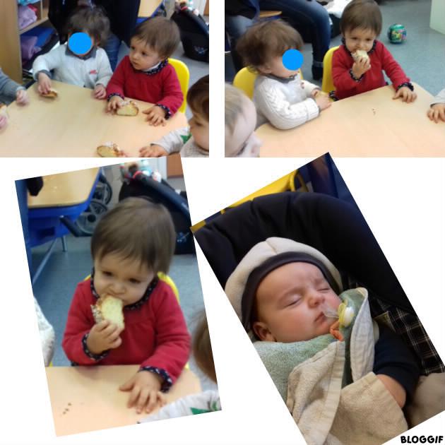 manger un bout de galette pour les grands et petit dodo pour Maël