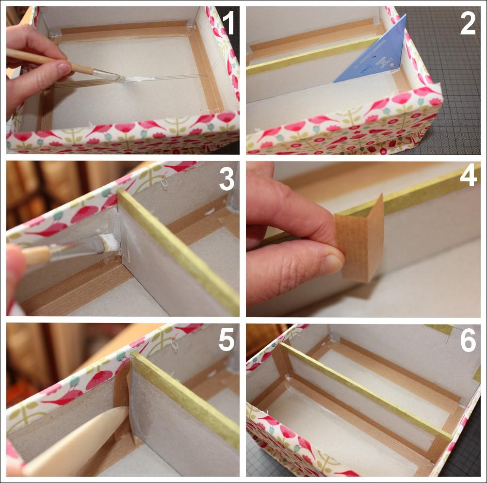 Cartonnage et techniques de base carton marie for Boite de rangement pour couture