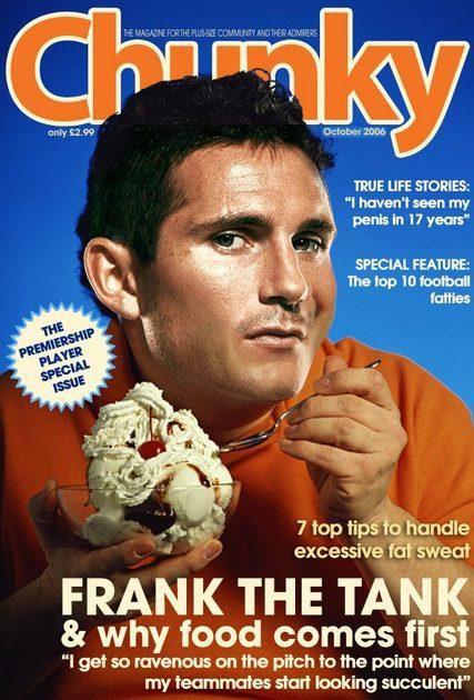 Frank Lampard en première page d'un magazine pour jeune obèse