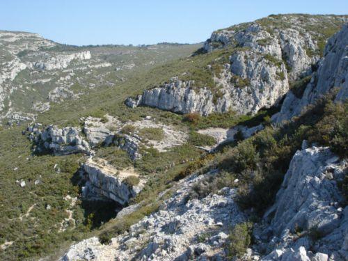 Vers grotte du Plantier ou de Manon
