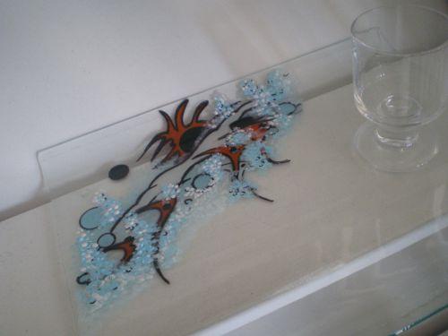 Plateau en verre décoré par Claude.SCHMITT
