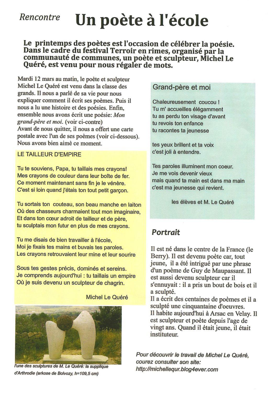 Printemps Des Poètes 2013 Michel Le Quéré