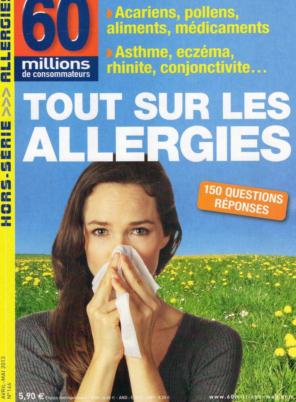 60 millions de consommateurs recommande 130 recettes pour allergies s v res les recettes d 39 hugo. Black Bedroom Furniture Sets. Home Design Ideas