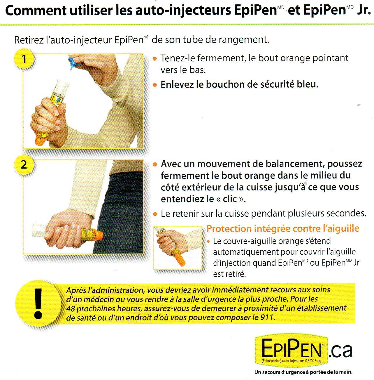 Notice d'utilisation de l'Epipen - Les recettes d'Hugo