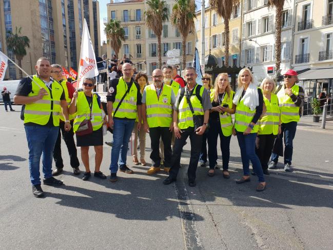 La manifestation du 9 octobre à Marseille