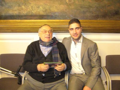 Hubert Boulaud 90 ans et  Guillaume Bourdeleau sont prêts pour la vague de janvier.JPG