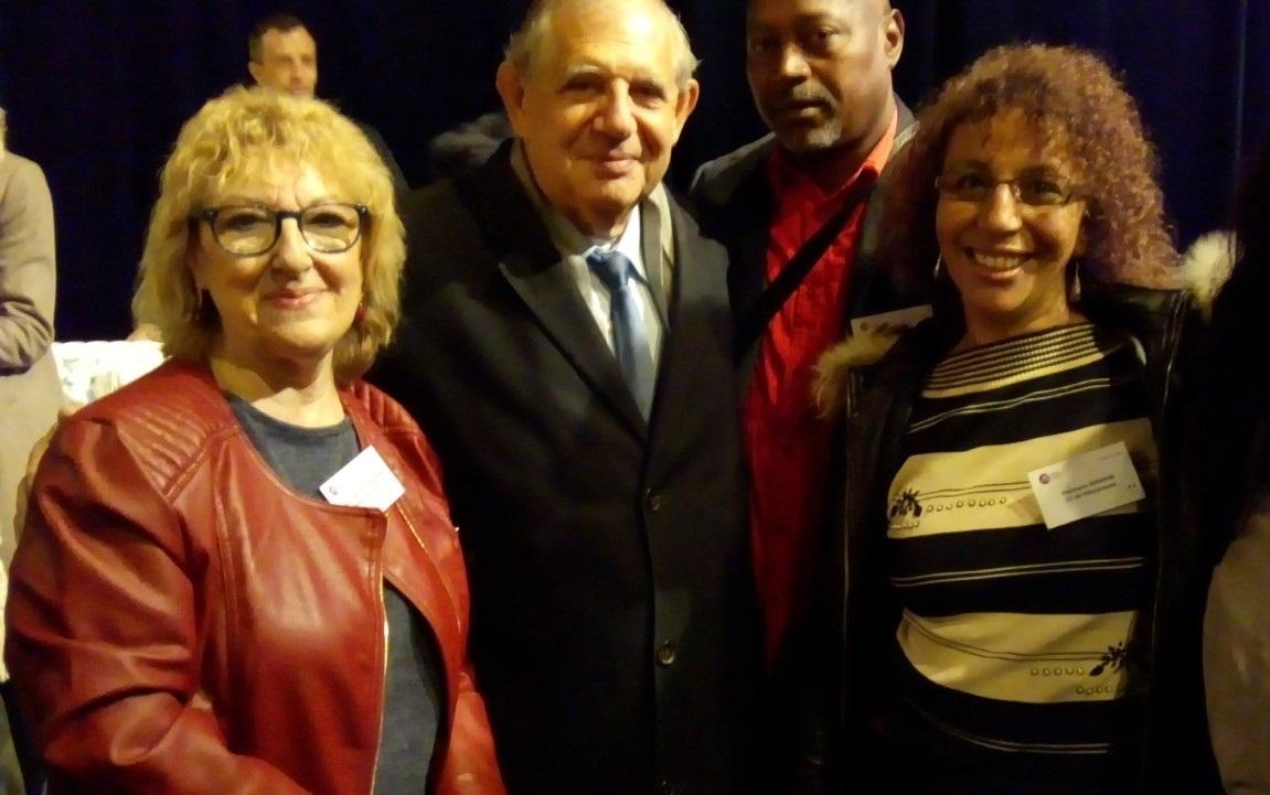 les conseil citoyen et leur  ministre Jacques Mezard octobre 2017 Aubervilliers 40 ans politique de la ville.jpg
